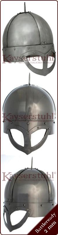 mit Kettenbrünne Wikinger Brillenhelm 2 mm Stahl 1716673900