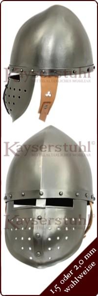 29cm Normannenhelm mit Nasenschutz für LARP